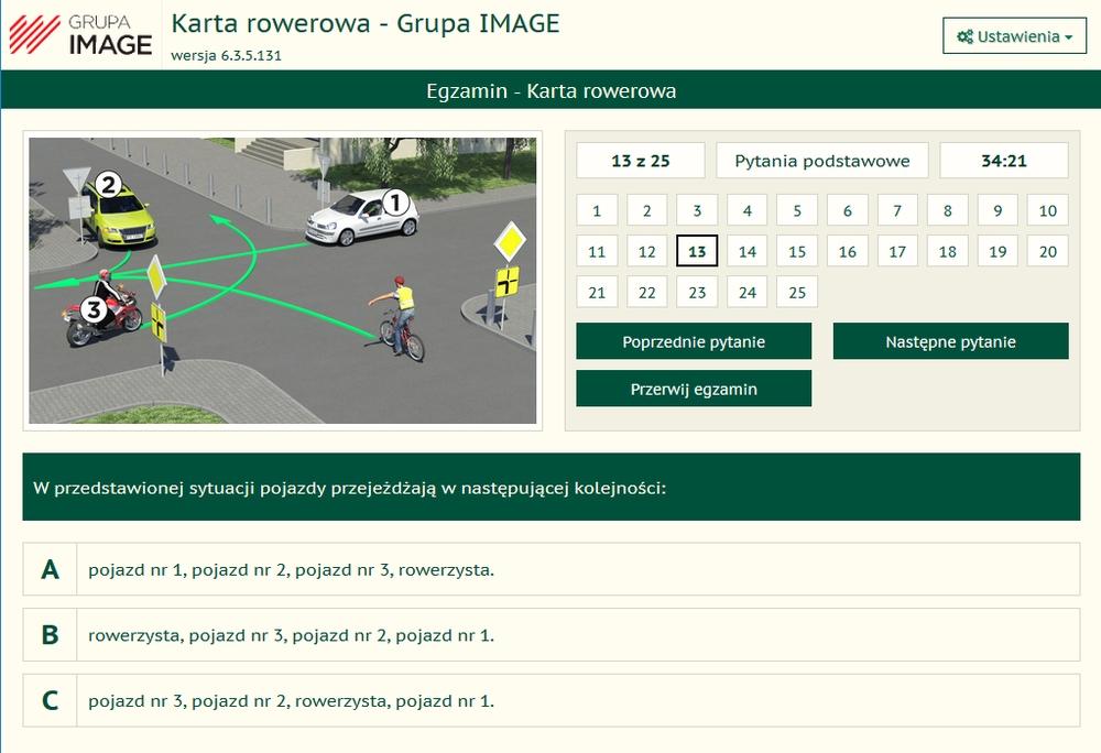 testy wewnętrzne na prawo jazdy online